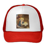 Vintage Christmas Nativity, Mary Joseph Baby Jesus Hat