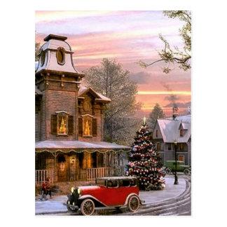 Vintage Christmas Neighborhood Postcard