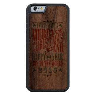 Vintage Christmas & NewYear iPhone 6 Case Walnut iPhone 6 Bumper Case