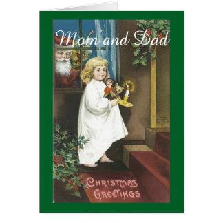 Vintage Christmas Parents Card
