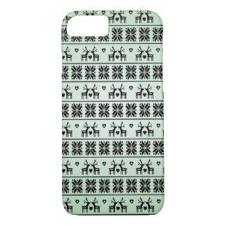Vintage Christmas pattern iPhone 7 Case