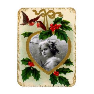 Vintage Christmas Photo Magnet