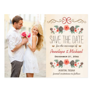 Browse the Photo Save The Date Postcards Collection and personalise by colour, design or style.