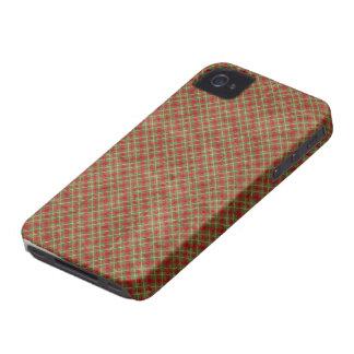 Vintage Christmas Plaid Blackberry Bold 9700/9780 Case-Mate iPhone 4 Case