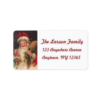 Vintage Christmas Postcard Image (Reproduction) Address Label