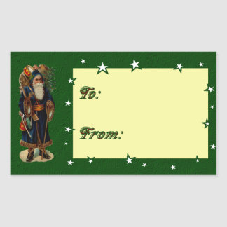Vintage Christmas Present Gift Tag Sticker