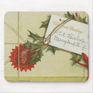 Vintage Christmas Present Mouse Pad