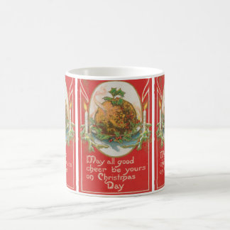 Vintage Christmas Pudding Coffee Mugs