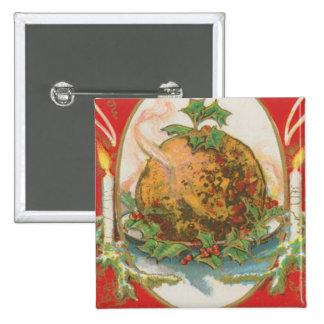 Vintage Christmas Pudding Pin