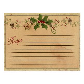 Vintage Christmas Recipe Card