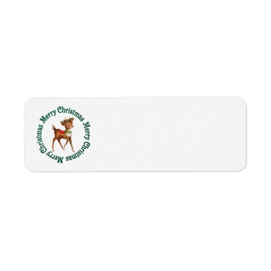 VINTAGE CHRISTMAS REINDEER ADDRESS LABELS