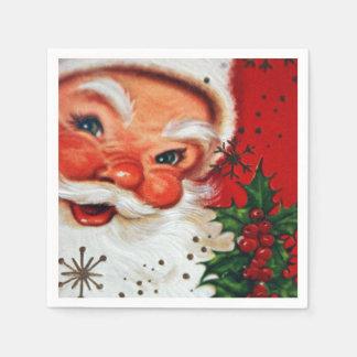 Vintage Christmas retro Santa party napkins Disposable Napkin