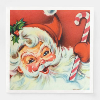 Vintage Christmas Retro Santa party napkins Disposable Serviette