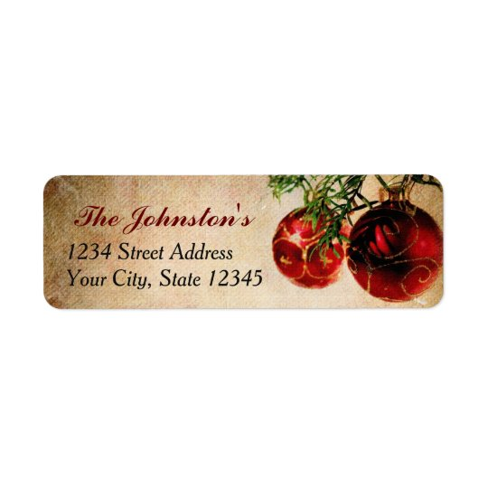 Vintage Christmas Return Address Labels