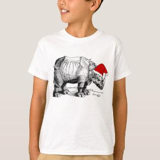 Vintage Christmas Rhino Santa Hat Albrecht Durer T-Shirt
