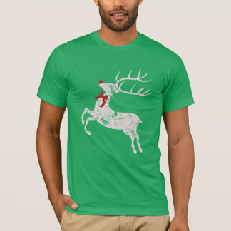 Vintage Christmas Rudolph Reindeer Red Nose T-Shirt