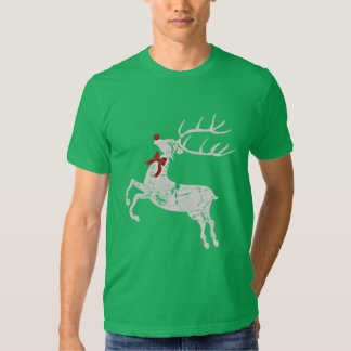 Vintage Christmas Rudolph Reindeer Red Nose T Shirts