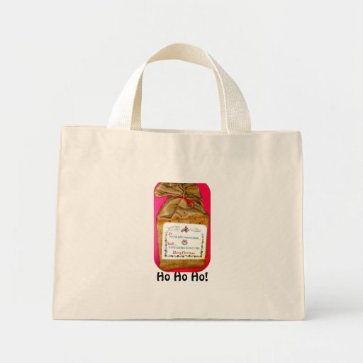 Vintage Christmas Sack Carry-All Canvas Bags