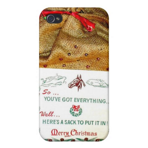 Vintage Christmas Sack, Old meets new iPhone 4 Cases