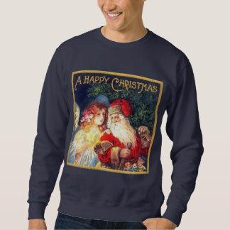 Vintage Christmas Santa and Angel Sweatshirt