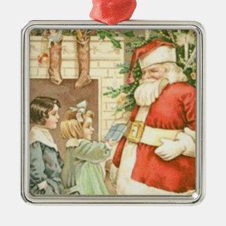 Vintage Christmas Santa and Children Christmas Tree Ornament