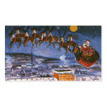 Vintage Christmas Santa Claus Flying His Sleigh Pack Of Standard Business Cards