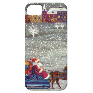 Vintage Christmas, Santa Claus Horse Open Sleigh Case For The iPhone 5