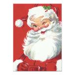 Vintage Christmas, Santa Claus 13 Cm X 18 Cm Invitation Card