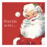 Vintage Christmas, Santa Claus Invitation