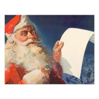Vintage Christmas Santa Claus Naughty Nice List Custom Announcement