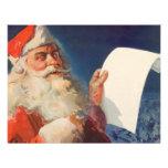 Vintage Christmas, Santa Claus Naughty Nice List Custom Announcement