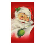 Vintage Christmas Santa Claus Pack Of Standard Business Cards