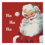 Vintage Christmas, Santa Claus Posters