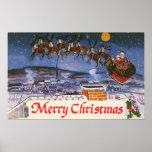 Vintage Christmas, Santa Claus Print