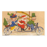 Vintage Christmas, Santa Claus Riding a Bicycle Pack Of Standard Business Cards