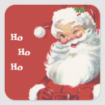 Vintage Christmas, Santa Claus Square Sticker