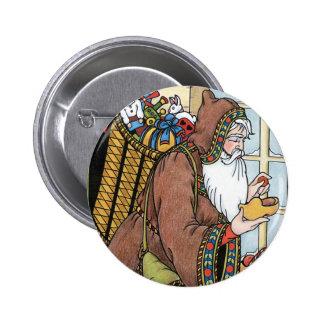 Vintage Christmas Santa Claus Toys Clogs Shoes Buttons