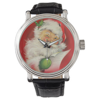 Vintage Christmas Santa Claus Watches