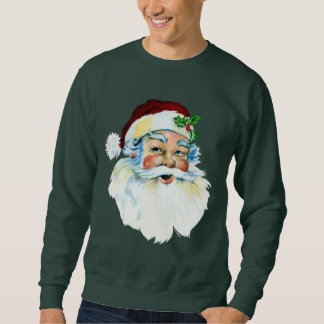 Vintage Christmas Santa head Holiday mens Sweatshirt