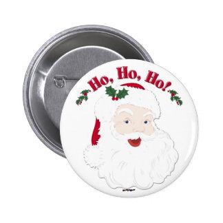 Vintage Christmas Santa Ho Ho Ho Buttons
