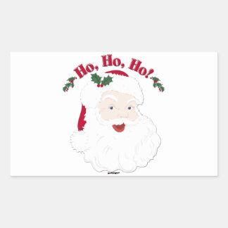 Vintage Christmas Santa Ho,Ho,Ho! Rectangle Sticker
