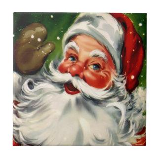 Vintage Christmas Santa Holiday Tile