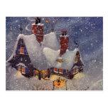 Vintage Christmas, Santa's Workshop at North Pole Postcards