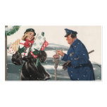 Vintage Christmas, Shopping Presents Policeman Pack Of Standard Business Cards