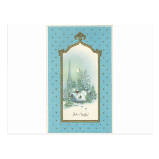 Vintage Christmas Silent Night Postcard