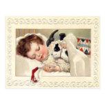 Vintage Christmas Slumber Postcard