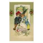 Vintage Christmas Snowball Poster