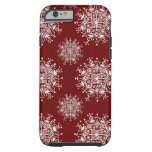 Vintage Christmas Snowflakes, Blizzard Pattern Tough iPhone 6 Case