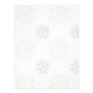 Vintage Christmas, Snowflakes Blizzard Pattern 21.5 Cm X 28 Cm Flyer