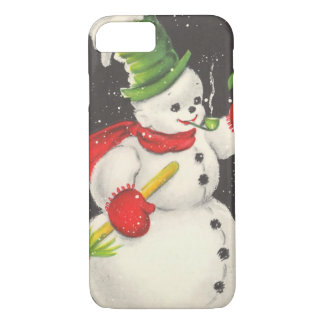 Vintage Christmas Snowman iPhone 8/7 Case